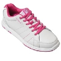Brunswick Ladies Satin White/Hot Pink
