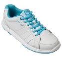 Brunswick Ladies Satin White/Aqua