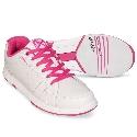 KR Strikeforce Ladies Satin White/Hot Pink