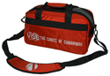 VISE 2 Ball Tote Clear Top Red